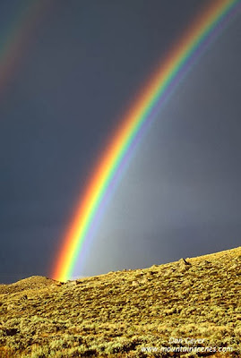 A rainbow in the Wind River Range, Wyoming.