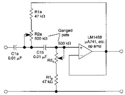 circuit diagram  variable high pass filter circuit diagram