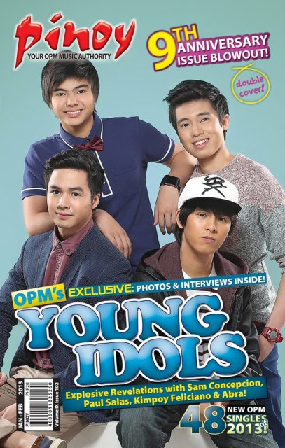 Paul Salas, Sam Concepcion, Kimpoy Feliciano and Abra Cover Pinoy Mag Jan-Feb 2013 Issue