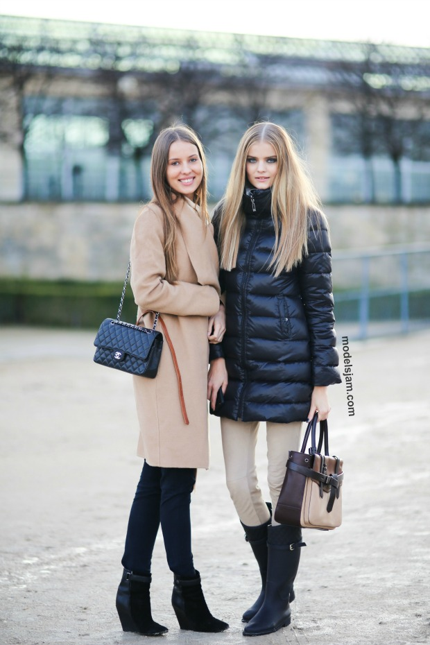 Kate and Valentina Grigorieva, Paris, March 2014
