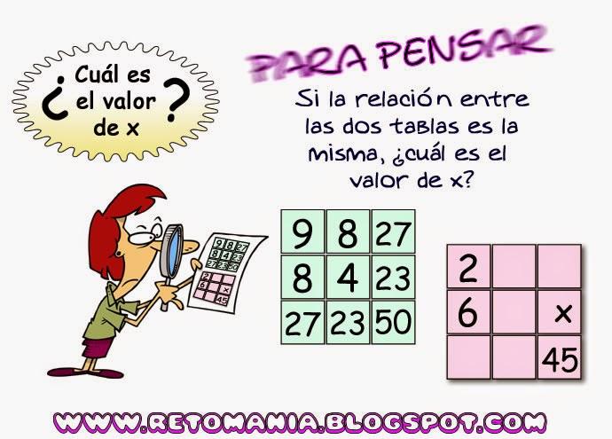 Descubre el número, ¿Cuál es el número que falta?, Retos matemáticos, Retos para pensar, Piensa Rápido, Desafíos matemáticos, Problemas matemáticos