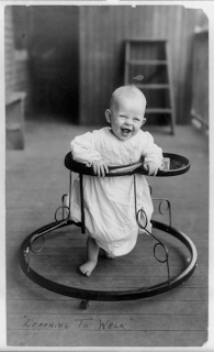 Using a Baby Walker - Wikimedia Commons Public Domain