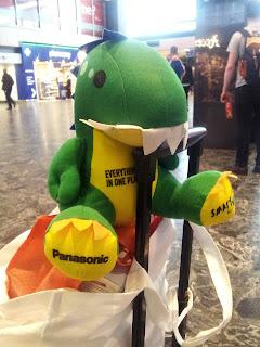Panasonic Dino, Dinosaur cuddly toy, Panasonic Merchandise