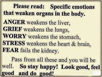 Control your emotions other wise it can weak your body organs