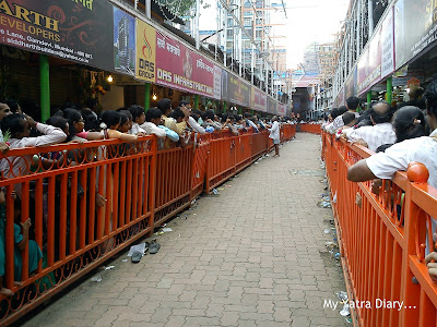 Long Mukhdarshan lines to meet the Lalbaugcha Raja during Ganesh Chaturthi celebrations