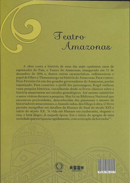 CONTRA-CAPA DO TEATRO AMAZONAS