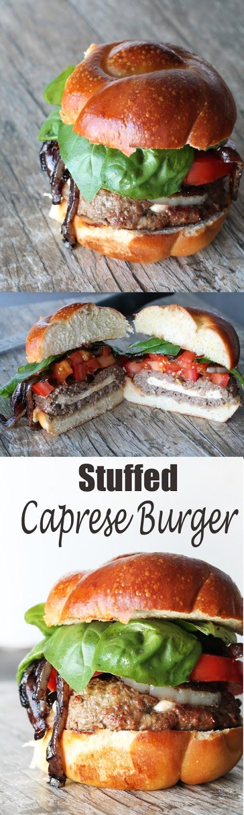 Stuffed Caprese Burger