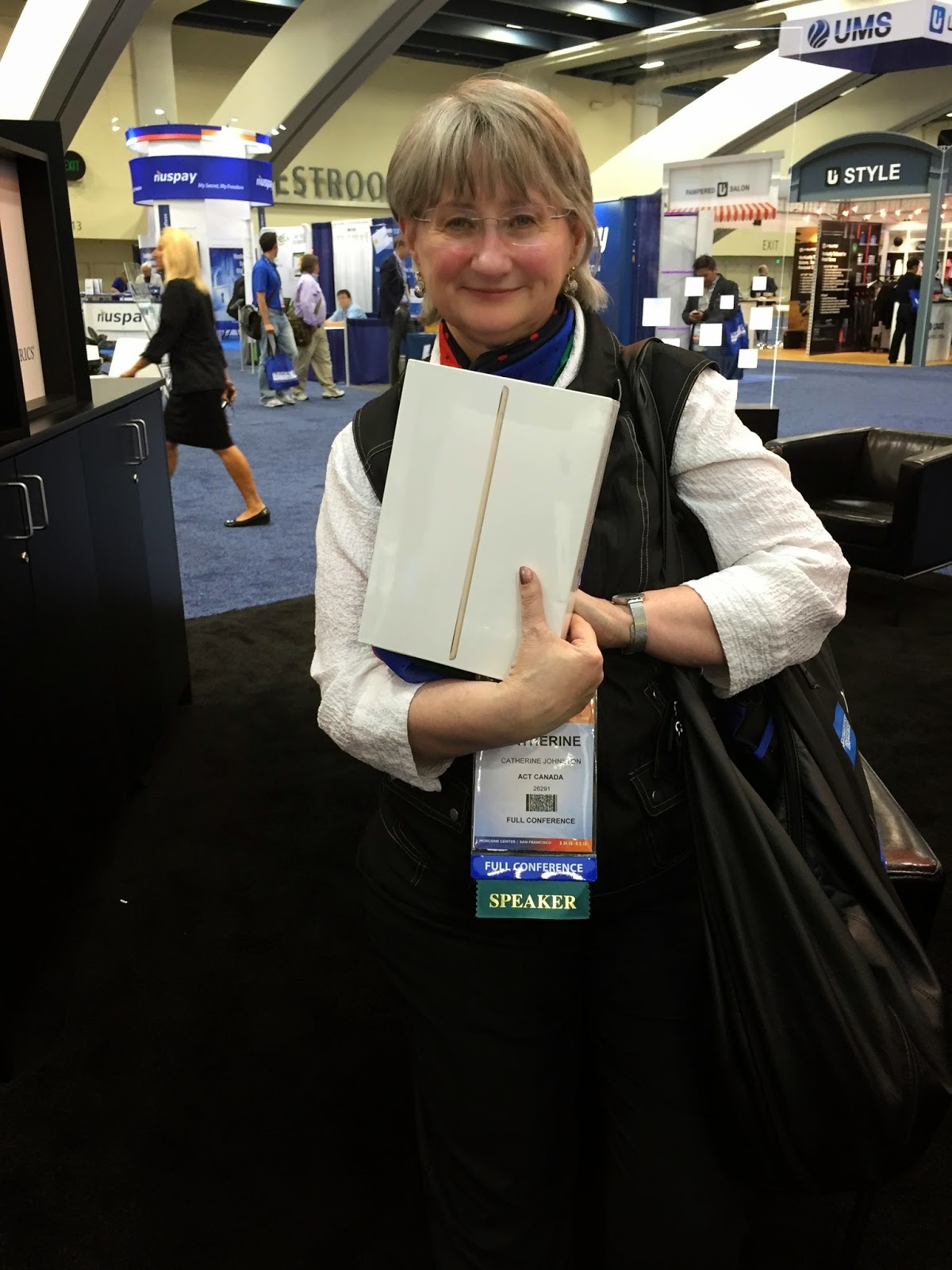 Catherine Johnston ACT Canada iPad Winner