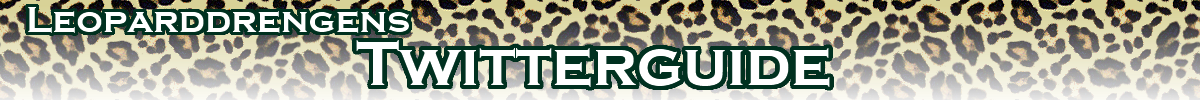 Leoparddrengens twitterguide