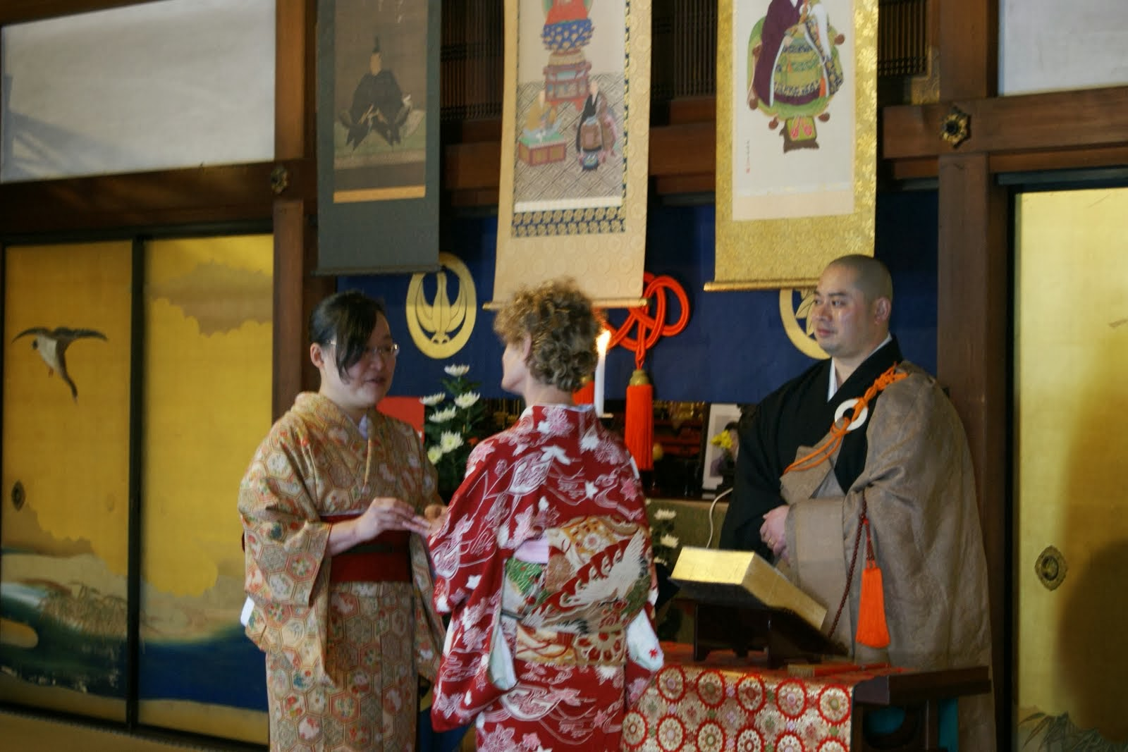 Wedding at Shunkoin Temple