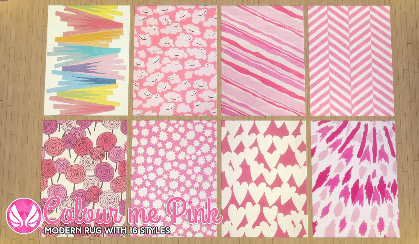 My Sims 4 Blog Color Me Purple And Pink Rugs By Peacemaker Ic