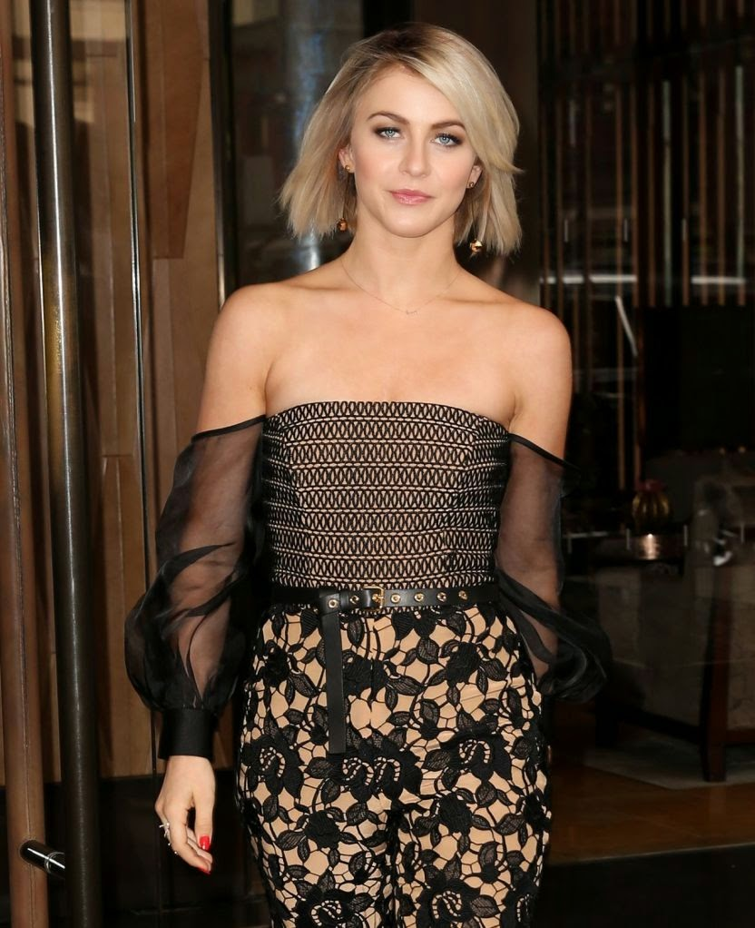 Julianne Hough Leaving the Trump Soho Hotel Photoshoot