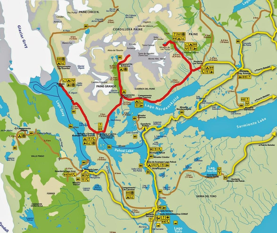 Circuito W Torres Del Paine Mapa : Canela canelÓn recomendaciones y guÍa torres del paine