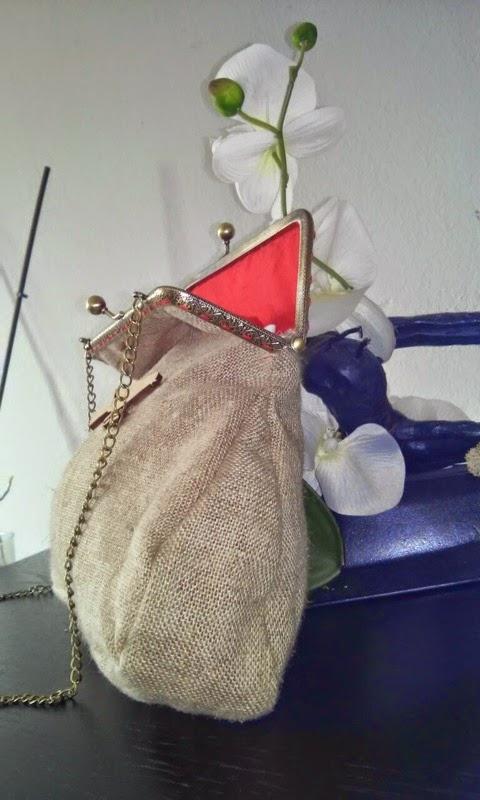 Bolso tela saco boquilla metalica