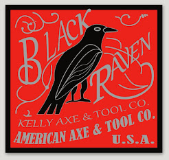 "Black Raven Red Decal 3""X3"""