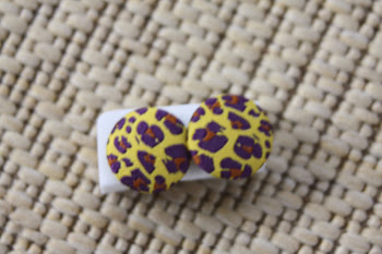 purple cheeta print on yellow big