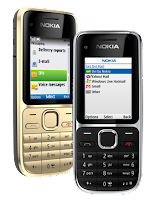 nokia-c2-01-golden-black-standing-side-front
