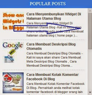 Cara Membuat Kotak Scroll Widget Popular Post Blogger