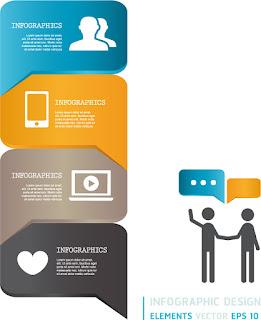 吹出し型のインフォグラフィックス テーマ Modern infographics bubble speech template イラスト素材