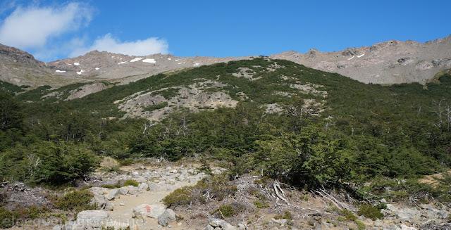 paso brecha negra, ruta frey san martin, ascenso, valle rucaco