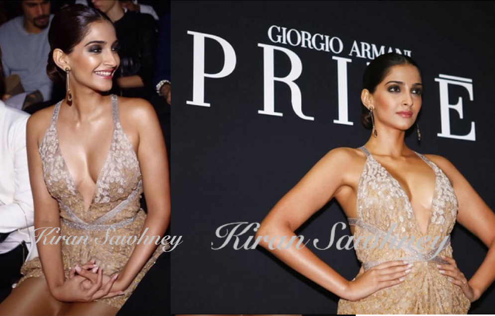 sneak peek of Sonam at the Armani Prive Paris Fashion
