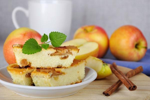 كيك التفاح والقرفة بسعرات حرارية منخفضة للرجيم!