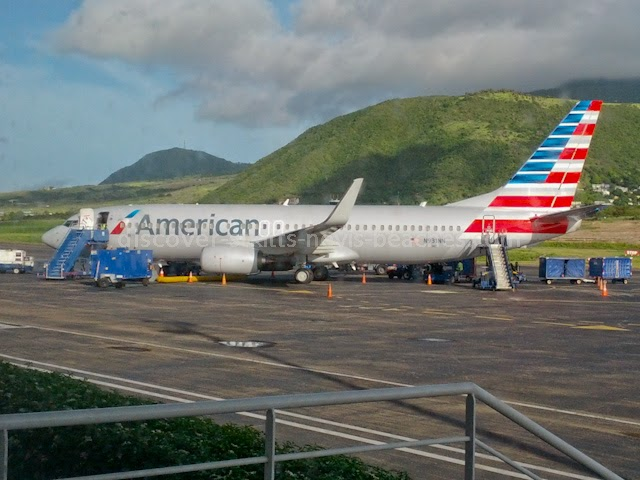 American Airlines at RL Bradshaw International Airport in St. Kitts