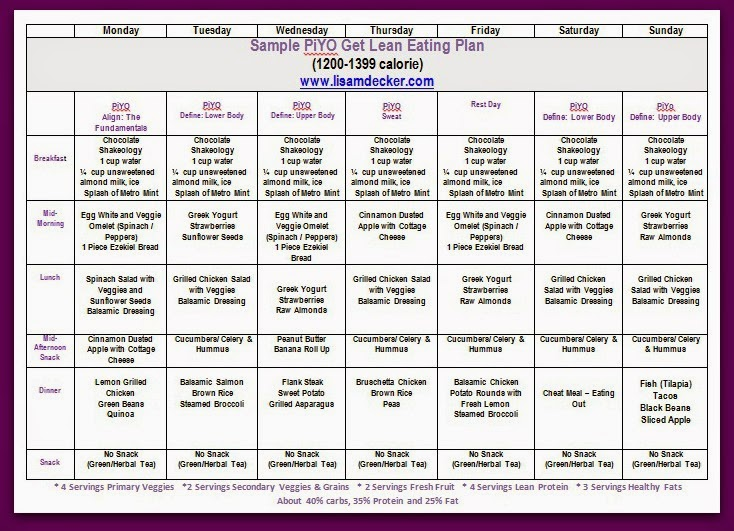 daily eating plan template