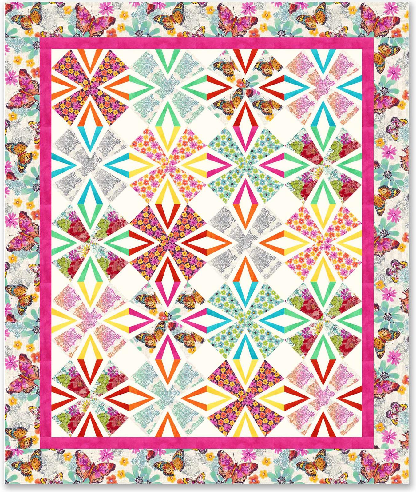 Free pattern!  Flutterby quilt