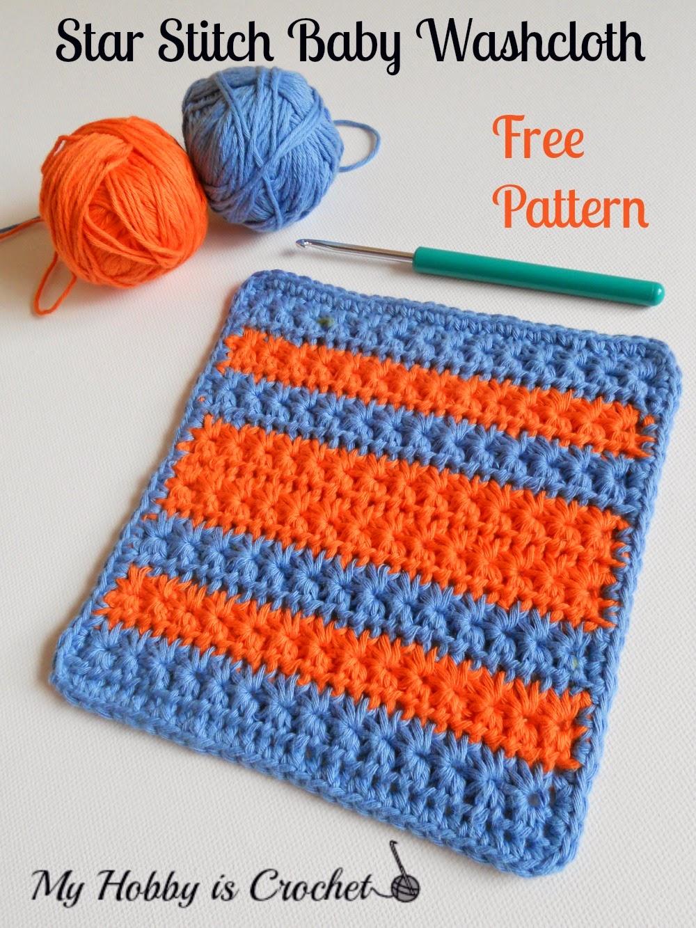Crochet Star Stitch Variation - Star Stitch Baby Washcloth / Dishcloth ...
