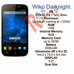 Wiko Darknight specs and stock rom download