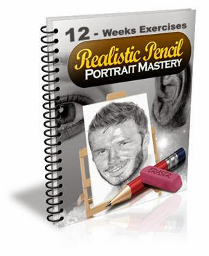 12-Weeks Pencil Portrait Mastery Exercises : realistic pencil portrait mastery home study course