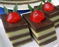 Resep kue lapis terigu coklat enak