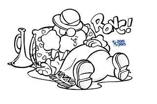 Desenhos Para Colori Circo com elefantes e palhaços   desenhar