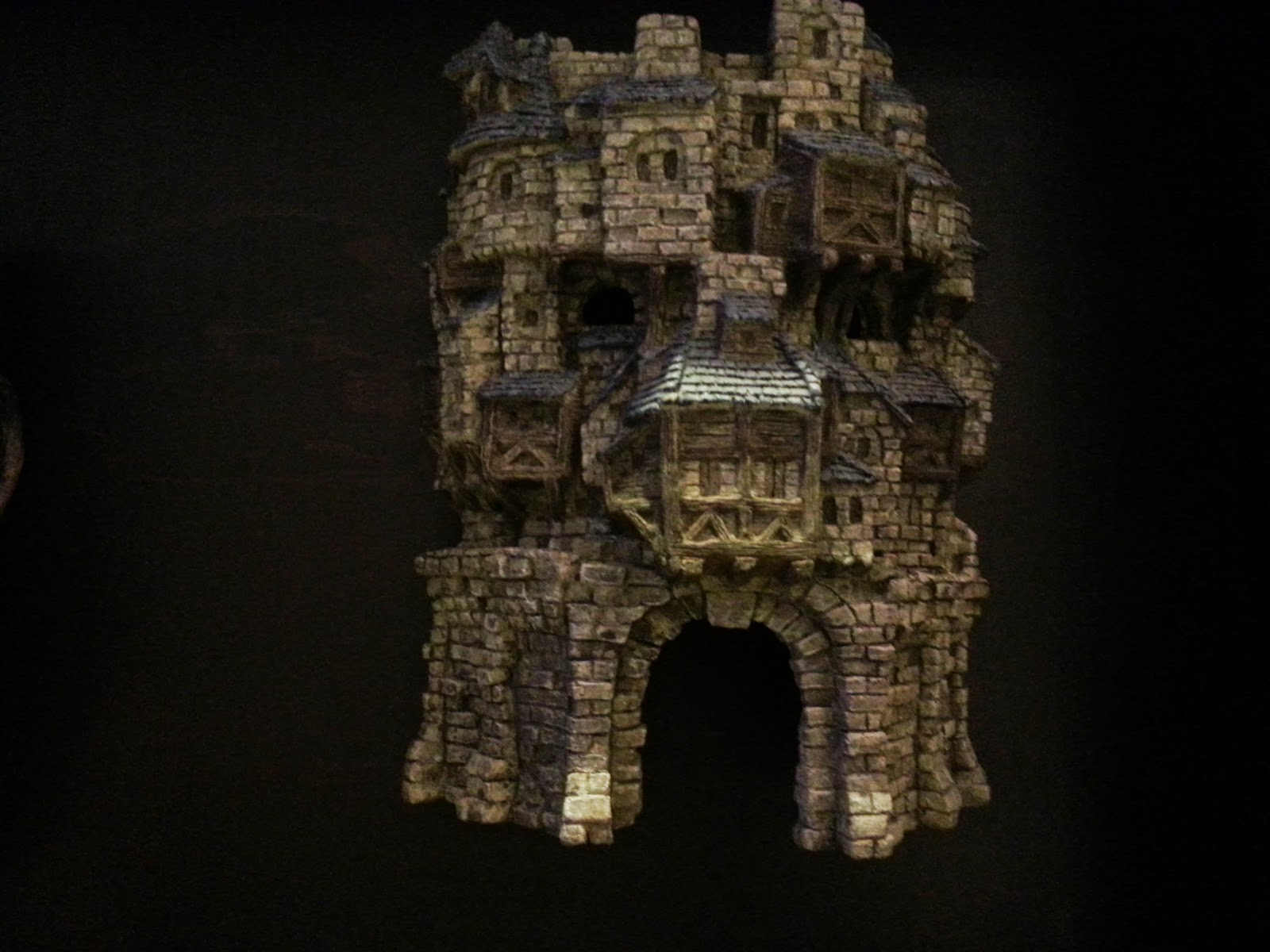 Brick wall? brick mask? at the Fantasy exhibition