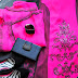 OUTFIT OF THE DAY: Hot Pink & Black Lace Print Chinyere