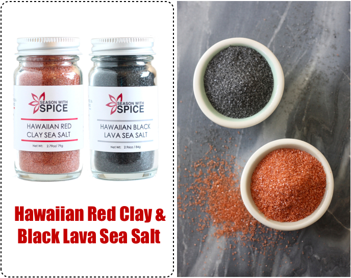 Hawaiian Black Lava Sea Salt and Hawaiian Red Clay Sea Salt available at SeasonWithSpice.com
