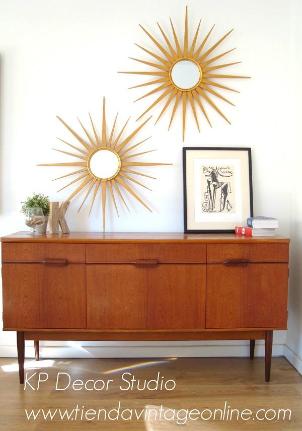Comprar espejos sol vintage antiguos de madera