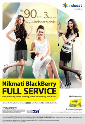 Promo Paket BlackBerry Indosat 90ribu 3bulan