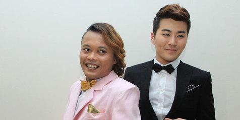 Photo Sule dan Eru Saat Duet Lagu Saranghaeyo