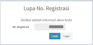 Lupa Nomor Registrasi