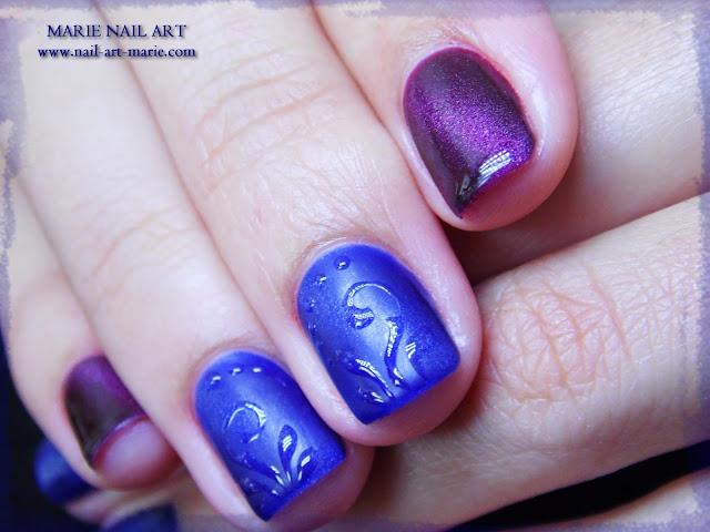 nail art avec semi-permanent effet oeil de chat2