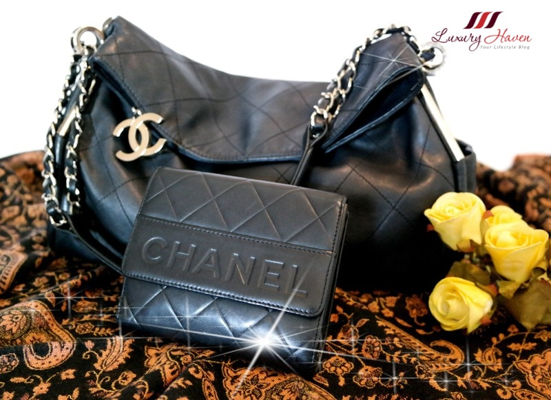 authentic chanel lambskin matelasse hobo shoulder bag