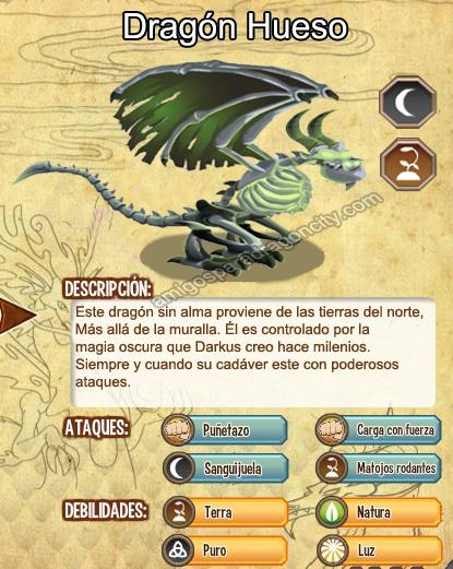imagen del dragon bone y sus caracteristicas