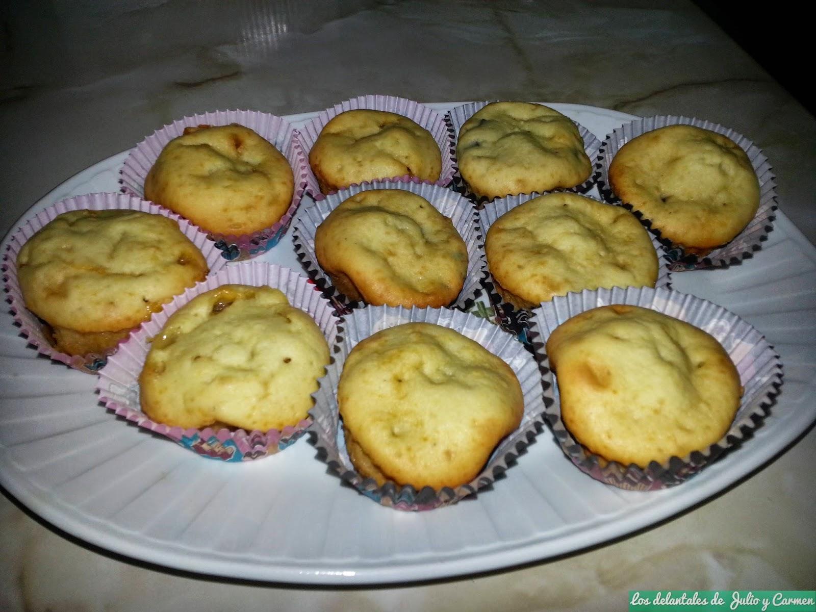 Muffin de choco-blanco y choco-negro