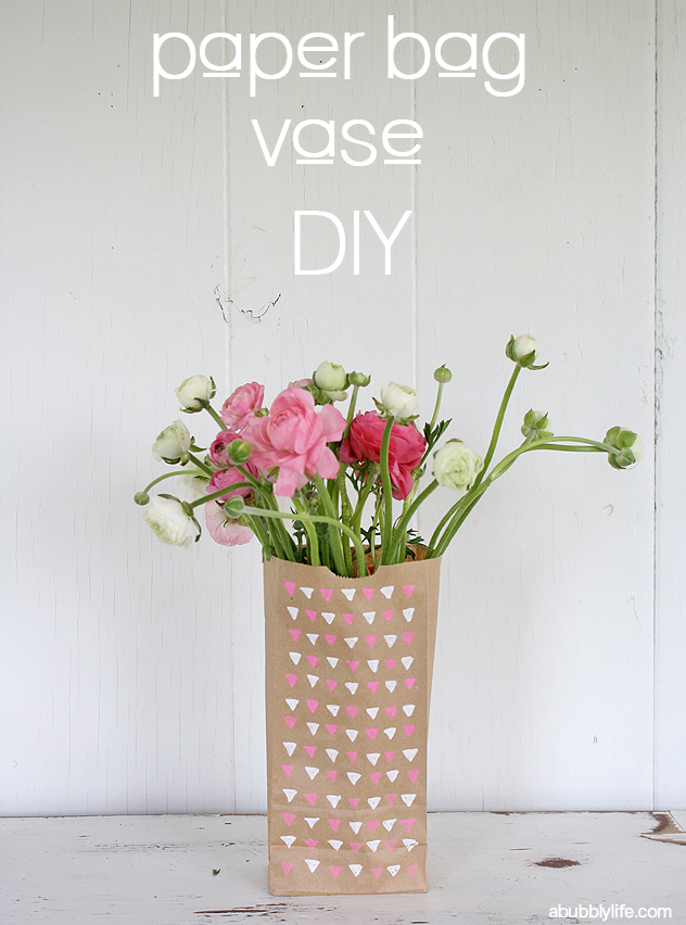 DIY Paper Bag Flower Vase
