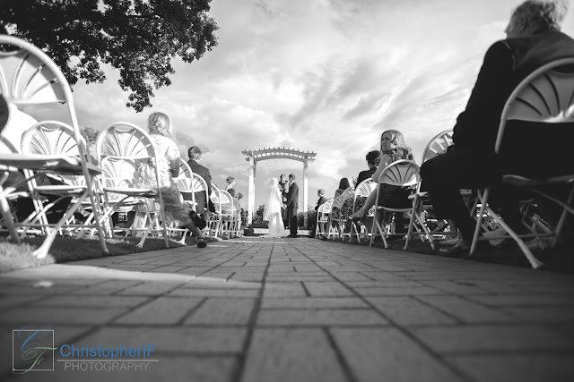 Wedding Ceremony Photography Black White