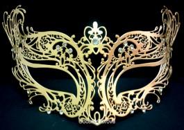 Máscara genuína italiana Veneziana Barletta Dourada