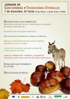 Jornada de costumbres y tradiciones otoñales. Valle del Jerte