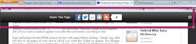 horizontal floating social sharing bar for blogger
